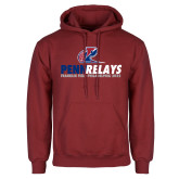 Cardinal Fleece Hoodie-Penn Relays Franklin Field 2018 Stacked