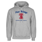 Grey Fleece Hoodie-Penn Relays w/ Liberty Bell Script