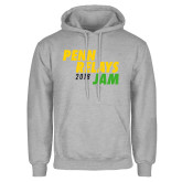 Grey Fleece Hood-Penn Relays Jam 2017