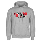 Grey Fleece Hoodie-Comrades In Sweat - Trinidad Flag