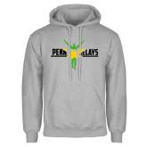 Grey Fleece Hoodie-Penn Relays Jamaica Flag
