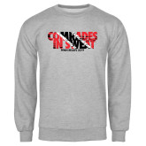 Grey Fleece Crew-Comrades In Sweat - Trinidad Flag