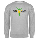 Grey Fleece Crew-Penn Relays Jamaica Flag
