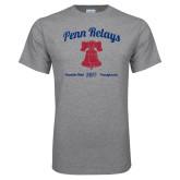 Grey T Shirt-Penn Relays w/ Liberty Bell Script