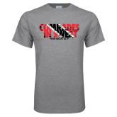 Grey T Shirt-Comrades In Sweat - Trinidad Flag