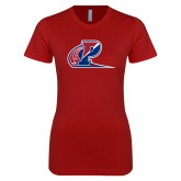 Next Level Ladies SoftStyle Junior Fitted Cardinal Tee-Penn Relays