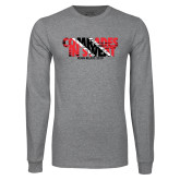 Grey Long Sleeve T Shirt-Comrades In Sweat - Trinidad Flag