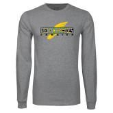 Grey Long Sleeve T Shirt-Penn Relays Jamaica w Shoe