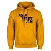 Gold Fleece Hoodie-Penn Relays Jam 2018