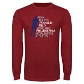 Cardinal Long Sleeve T Shirt-Lineed Runner
