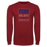 Cardinal Long Sleeve T Shirt-Penn Relays In Box