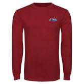 Cardinal Long Sleeve T Shirt-Penn Relays 2018 Logo
