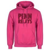 Fuchsia Fleece Hoodie-Penn Relays Stacked