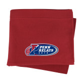 Cardinal Sweatshirt Blanket-Penn Relays 2018 Logo