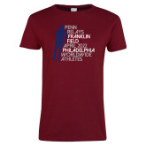 Ladies Cardinal T Shirt-Lineed Runner
