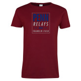 Ladies Cardinal T Shirt-Penn Relays In Box
