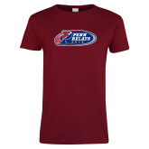 Ladies Cardinal T Shirt-Penn Relays 2018 Logo