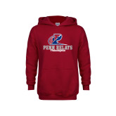 Youth Cardinal Fleece Hoodie-Penn Relays Philadelphia Scripted