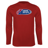 Syntrel Performance Cardinal Longsleeve Shirt-Penn Relays 2018 Logo