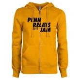 ENZA Ladies Gold Fleece Full Zip Hoodie-Penn Relays Jam 2017