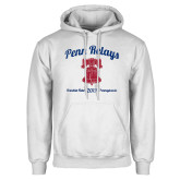 White Fleece Hoodie-Penn Relays w/ Liberty Bell Script