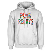 White Fleece Hoodie-World Flags Penn Relays