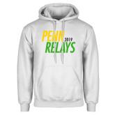 White Fleece Hoodie-Penn Relays Jamaica 2018