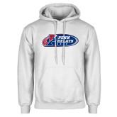 White Fleece Hoodie-Penn Relays 2018 Logo
