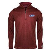 Russell Cardinal Heather 1/4 Zip-Penn Relays 2018 Logo