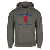 Charcoal Fleece Hoodie-Penn Relays w/ Liberty Bell Script