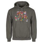 Charcoal Fleece Hoodie-World Flags Penn Relays