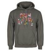 Charcoal Fleece Hoodie-World Flags Penn Relays