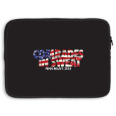 15 inch Neoprene Laptop Sleeve-Comrades In Sweat - USA Flag