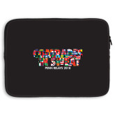 15 inch Neoprene Laptop Sleeve-Comrades In Sweat - World Flags