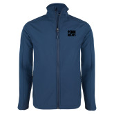 Navy Softshell Jacket-Penn Relays Stacked