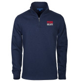 Navy Slub Fleece 1/4 Zip Pullover-Penn Relays Stacked