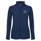 Ladies Fleece Full Zip Navy Jacket-Penn Relays