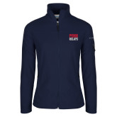 Columbia Ladies Full Zip Navy Fleece Jacket-Penn Relays Stacked