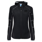 Columbia Ladies Sweet As Softshell Black Jacket-Penn Relays Stacked
