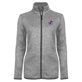 Grey Heather Ladies Fleece Jacket-Penn Relays