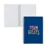 Clear 7 x 10 Spiral Journal Notebook-World Flags Penn Relays