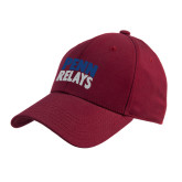Cardinal Heavyweight Twill Pro Style Hat-Penn Relays Stacked