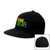 Black OttoFlex Flat Bill Pro Style Hat-Penn Relays Jamaica 2018