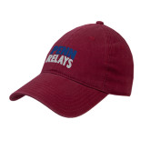 Cardinal Twill Unstructured Low Profile Hat-Penn Relays Stacked