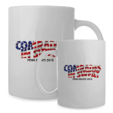 Full Color White Mug 15oz-Comrades In Sweat - USA Flag