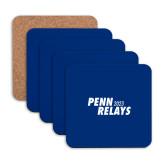 Hardboard Coaster w/Cork Backing 4/set-Penn Relays 2018 Step Stack