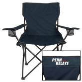Deluxe Navy Captains Chair-Penn Relays 2018 Step Stack