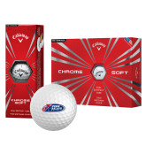 Callaway Chrome Soft Golf Balls 12/pkg-Penn Relays 2018 Logo
