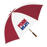 62 Inch Cardinal/White Umbrella-Penn Relays Stacked