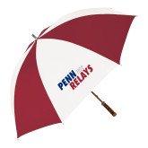 62 Inch Cardinal/White Umbrella-Penn Relays 2017 Step Stack